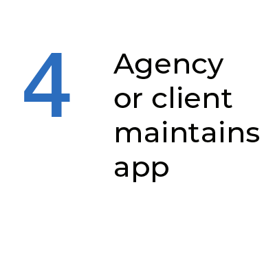 Step 4 Agency And Or Clients Maintains Conversational AI App